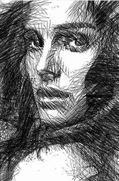Woman Sketch in Black and White by Rafael Salazar Artist from Digital Art Copyright 2013 Portrait Sketches, Portrait Art, Drawing Sketches, Art Drawings, Scribble Art, Illustration Art, Illustrations, Black And White Sketches, Woman Sketch