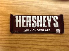 Now it's easy to see how many calories are in this Hershey Milk Chocolate bar.