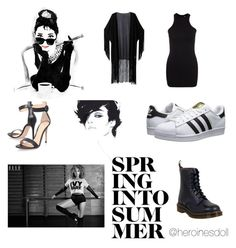 """PROM N 4"" by squeed on Polyvore featuring WithChic, Gianvito Rossi, Oliver Gal Artist Co., adidas Originals and Dr. Martens"