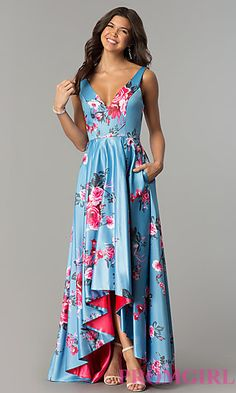 Shop for long prom dresses and formal evening gowns at Simply Dresses. Short casual graduation party dresses and long designer pageant gowns. Dresses For Teens, Casual Dresses, Formal Dresses, Luau Outfits, Fiesta Outfit, Summer Wedding Outfits, High Low Prom Dresses, Beautiful Gowns, Pretty Dresses