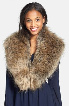 BP. Oversized Faux Fur Collar (Juniors) (Online Only) available at #Nordstrom