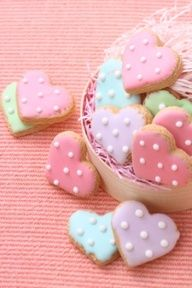 Simple and Valentine Cookies these are really sweet.  Be good to add a few to some bigger cookies you put in a bag