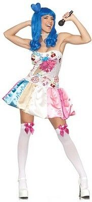 Katy Perry Candy Girl Costume (more details at Adults-Halloween-Costume.com) #KatyPerry #celebrity #halloween #costumes