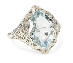Custom Make vintage jewelry on Morpheus! http://www.morphe.us.com/ Fancy Cut Vintage Aquamarine Ring