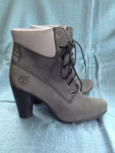 RARE! Timberland ROUND HEEL DEVLIN Gray Nubuck Leather Boots