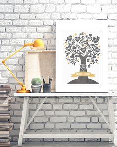Poster Familytree- create yourself your own and personal Family Poster. Das hippe Stammbaum Poster von Printcandy ist wunderschöne Wanddekoration und auch das perfekte Geschenk für alle Großeltern. Family Poster, Poster Print, Graffiti, Minimalist Artwork, Collage Illustration, Watercolor, Canvas, Awesome, Creative