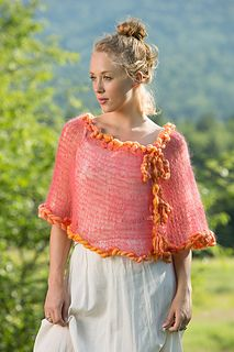 Add a light and pretty layer to your outfit with this cute poncho. Features a keyhole opening and chunky, braided ties. Comes in 2 lengths – the shorter length is perfect worn over Summer to Fall dresses.
