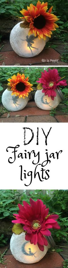 We're in love with these Fairy Jar Lanterns that use cute cutouts and are backlit with LED Lights! You will love the ideas! What a clever idea these Fairy Jar Lanterns are and the magical frosted eff Diy Design, Design Ideas, Design Trends, Diy And Crafts, Crafts For Kids, Fairy Crafts, Creative Crafts, Craft Projects, Projects To Try