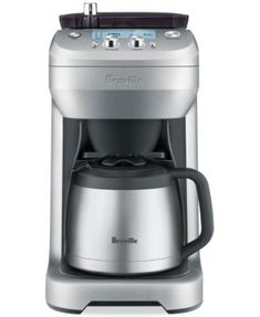 Grinds and brews coffeehouse quality java, this coffeemaker from Breville lets you make the perfect amount of coffee for your size cup, mug or carafe. | Imported | Brews the volume you choose from sin