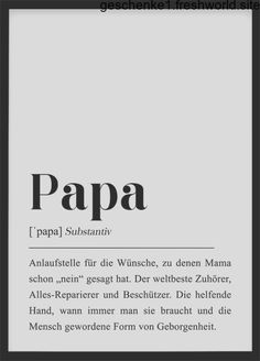 Papa Definition DIN Poster Geschenk für Vater, Du wirst Papa, Schwangerschaft Ankündigu… - Lo Que Necesitas Saber Para La Fiesta Diy Gifts For Dad, Diy Gifts For Friends, Diy Gifts For Boyfriend, Gifts For Father, Gifts For Family, Mama Definition, Diy Cadeau, Definitions, Announcement