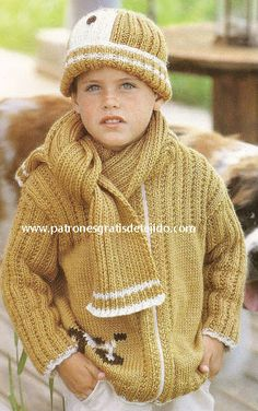 25 Prendas Infantiles para Tejer - de 0 a 5 años / Paso a paso con moldes y patrones Baby Knitting Patterns, Knit Baby Sweaters, Men Sweater, Baby Party, Winter Hats, Crochet Hats, Turtle Neck, Pullover, Children