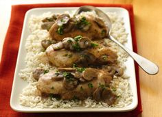chicken marsala crockpot style! Don't forget to have a glass of marsala while you put this together! *SimpleSlimmer Tip* Use Smart Balance light still has a lot of flavor with less fat and calories!