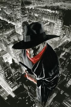 The Shadow cover by Alex Ross Comic Book Artists, Comic Book Characters, Comic Character, Comic Books Art, Comic Art, Comic Pics, Character Design, Alex Ross, Comic Shop
