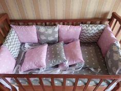 Купить Бортики в кроватку - комбинированный, постельное белье детское, постельное с бортиками, бортики на заказ