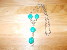 Turquoise drop chain pendant £8.00