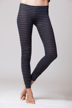 cashmere leggings with stripes on Etsy, $79.00