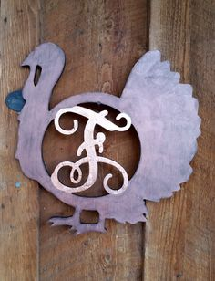Copper Turkey Monogram (that old story) - OCCASIONS AND HOLIDAYS - All Holiday crafts, Knitting, Art, sewing, crochet, tutorials, children crafts, jewelry, needlework, swaps, papercrafts, Polymer clay, cooking, Quilting, Video How-To's, and so much more on Craftster.org