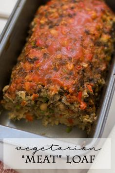 """""""Meat"""" Loaf Vegetarian """"Meat"""" Loaf: A healthier spin on the classic comfort food.Vegetarian """"Meat"""" Loaf: A healthier spin on the classic comfort food. Healthy Eating Recipes, Veggie Recipes, Whole Food Recipes, Vegetarian Recipes, Cooking Recipes, Best Easy Meatloaf Recipe, Meat Loaf Recipe Easy, Meatloaf Recipes, Vegetarian Meatloaf"""