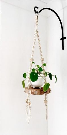 Fantastic No Cost Macrame Plant Hanger bathroom Tips DIY Wood Shelf Plant Hanger; Indoor Macrame Plant Hanger D Diy Wood Shelves, Plant Shelves, Wall Hanging Shelves, Large Shelves, Wall Hangings, Floating Shelves, Artificial Hanging Baskets, Indoor Hanging Baskets, Indoor Plant Hangers