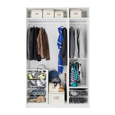 PAX Wardrobe - 150x60x236 cm, standard hinges - IKEA // Great, add shoe shelves and nice drawers