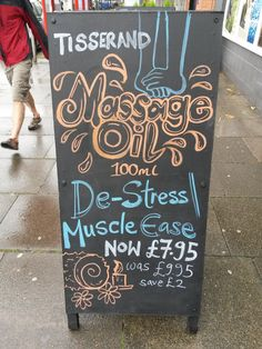Tisserand Massage Oil - P10W2 Chiswick - September 2015