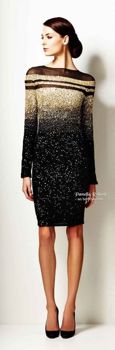 Pamella Roland Pre Fall 2014 women fashion outfit clothing style apparel @roressclothes closet ideas