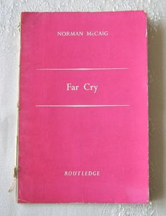 """Norman McCaig, """"Far Cry: Poems"""" (signed first edition, 1943) (SOLD) - www.vanishederas.com"""