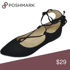 Coming soon. Suede strappy, cris-cross flats.  ❌Trades ✅ Price Firm ✴️ Bundles Save 20% 💟 Also available in Taupe Shoes Flats & Loafers