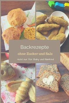 Backrezepte ohne Zucker und ohne Salt für Baby und Kleinkind und alle, die sich gesund und zuckerfrei ernähren wollen. Von Keksen, über Geburtstagskuchen bis hin zu Brötchen und Brot für das Baby ist vieles dabei: http://www.breirezept.de/backrezepte.php