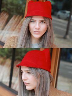 Storets Sweet Little Kitty Calot // Storets.com // #Hat #Accessories #Storets #Cute