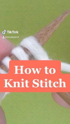 Knitting Videos, Knitting For Beginners, Knitting Stitches, Knitting Projects, Baby Knitting, Knitting Patterns, Puff Stitch Crochet, Crochet Cross, Diy Crochet