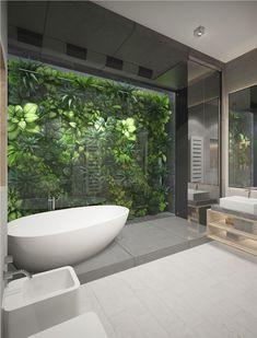 Outdoor Bathrooms 686376799444253240 - Collaboration with Sergey MAKHNO arhitekts Source by Indoor Outdoor Bathroom, Outdoor Baths, Dream Bathrooms, Beautiful Bathrooms, Jungle Bathroom, Garden Bathroom, Tropical Bathroom, Toilet Design, Bathroom Design Luxury