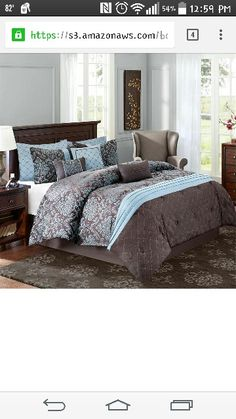 Teal And Brown Bedding Queen Teal Blue Brown Modern