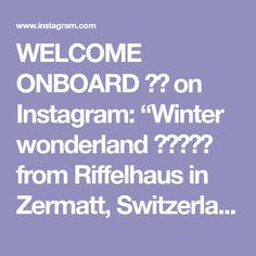"WELCOME ONBOARD ✈️ on Instagram: ""Winter wonderland ☃️😍❄️ from Riffelhaus in Zermatt, Switzerland 🇨🇭 Happy weekend everyone 👋🏼 Repost @senai_senna #Riffelhaus…"" Zermatt, Happy Weekend, Welcome, Winter Wonderland, Switzerland, Places, Instagram, Lugares"