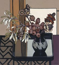 Catmota — Banksia Pads and Gumnuts Criss Canning Margaret Preston, Sharpie Drawings, Australian Flowers, Still Life Flowers, Still Life Art, Australian Artists, Art Floral, Botanical Art, Painting & Drawing