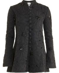 Alabama Chanin Facets Coat black - Lyst