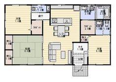 28坪3LDKゲストルームのある平屋の間取り | 平屋間取り