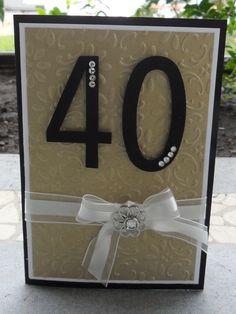 Christie's Creative Corner: 40th Birthday Card