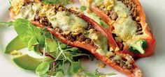 Inspiring recipes for you to try Baked Peppers, Santa Maria, Mexican Food Recipes, Ethnic Recipes, Tortilla Chips, Frisk, Healthy Salads, Tex Mex, Fajitas