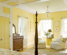 buttery yellow walls = Traditional Calm