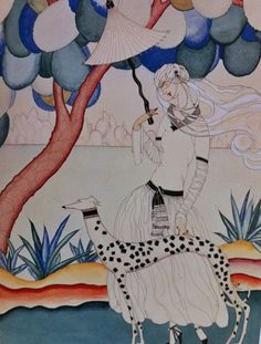 original illustration by Helen Dryden for the cover of America Vogue, 1922