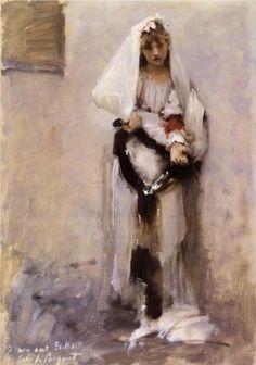 A Parisian Beggar Girl - John Singer Sargent