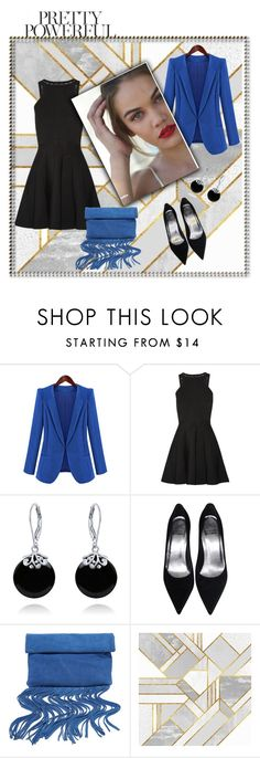 """""""Black-blue combination"""" by hedija-okanovic ❤ liked on Polyvore featuring Chicnova Fashion, Cushnie Et Ochs, Bling Jewelry and LULUS"""