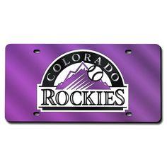 Colorado Rockies MLB Laser Cut License Plate Cover