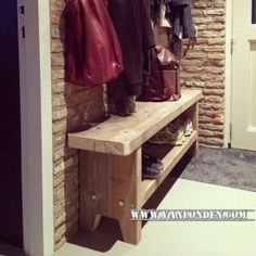 Steigerhouten schoenenkast Teun (Diverse steigerhouten kasten bestellen) Wood Creations, Shoe Rack, Entryway, Home, Beds, Glass House, Entrance, Shoe Racks, Door Entry