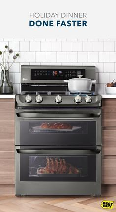 People say you can't rush perfection. Those people have never used this LG gas range. Two ovens allow you to cook at different temperatures simultaneously. Plus, ProBake Convection shortens cooking times, delivering fast and flavorful dinners on time, every time. Heat up your holiday entertaining with Best Buy. Our Associates know appliances inside and out, plus we have Price Match Guarantee. So, you'll get the appliances you want at a price you'll love. For full details, see BestBuy…
