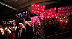 Supporters rally with Republican U.S. presidential nominee Donald Trump in Fletcher, North Carolina