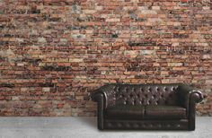 Black and Red Aged Brick Wall Mural