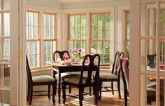 dining area sun room | and the new sun room which overlooks the lower gardens.