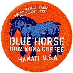 Farm-fresh: 100% Kona Coffee, Single Serve for Keurig K-Cup Brewers, 10 Count, Full-City Roast